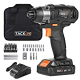 Impact Driver, Tacklife 180Nm Cordless Impact Drill, 2.0Ah, 2800RPM Max Speed and 3600 Impact Rate, 6.35mm Quick Chuck, 1H Fast Charger, PID02B