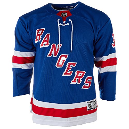 NHL Youth New York Rangers Henrik Lundqvist #30 Premier Home Jersey (Large/X-Large) Blue
