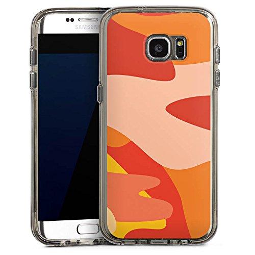 DeinDesign Samsung Galaxy S7 Edge Bumper Hülle Bumper Case Schutzhülle Camouflage Bundeswehr Orange