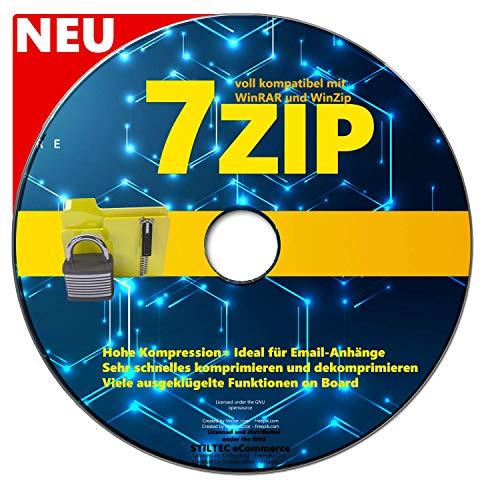 7 Zip Software auf CD DVD Packen> Entpacken>Komprimieren & 100% KOMPATIBEL mit WinZip, Winrar + WIN 10 / 8.1 / 8 / 7