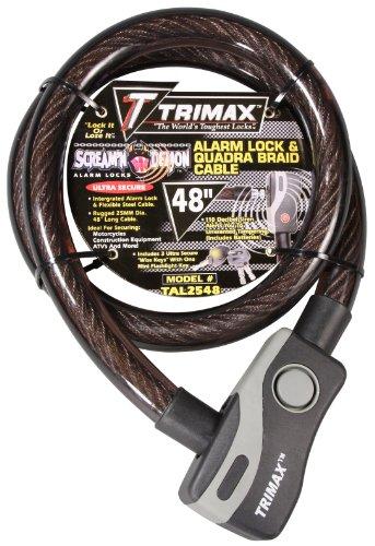 Trimax TAL2548 4' x 25 mm Alarm Lock and Quadra-Braid Cable