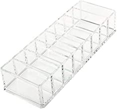 Makeup Organizer,Clear Acrylic Makeup Cosmetics Organizer Box for Compact,Blushes,Lipsticks and Highlighters Eyeshadow,8 Space Cosmetic Storage