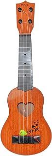 Maonet Christmas Beginner Classical Ukulele Guitar Educational Musical Instrument Toy for Kids (Orange, 39x12x3.5cm)