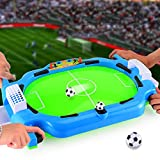 Mini Tabletop Soccer Game, Portable Foosball Table Arcade Game Training Football Toy with Two Balls and Score Keeper for Kids, Interactive Desktop Sport Game Shooting Fun Toy