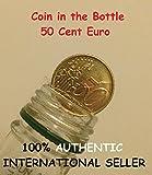 Plegable Moneda 50 centavo Euro / Magic Moneda en Botella 50 centavo Euro