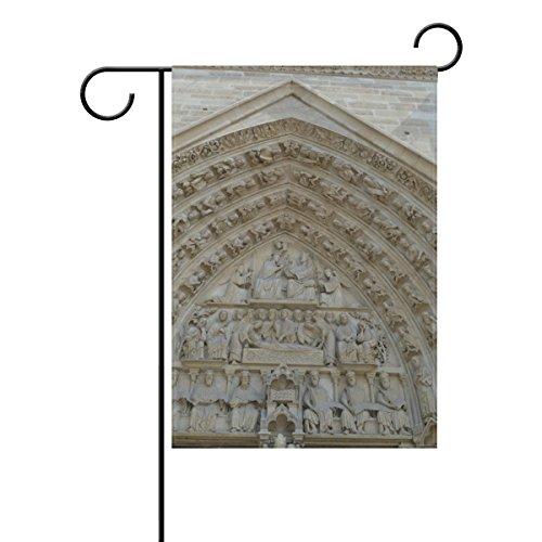 Josid Jardin Drapeau Bannière Cathédrale Notre-Dame France Architecture Monument 30,5 x 45,7 cm Double Face 28x40 inches Image 94