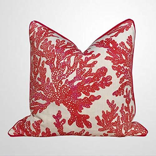 DONL9BAUER - Funda de almohada para sofá o dormitorio, diseño de panel Shoji, color verde y rosa