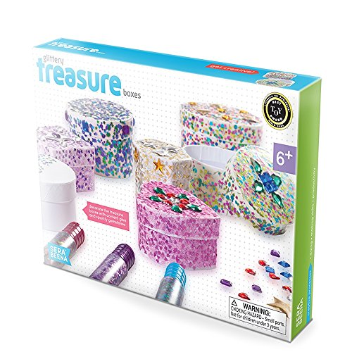 Serabeena Decorate Your Own Glittery Treasure Boxes - Creative Kit for...