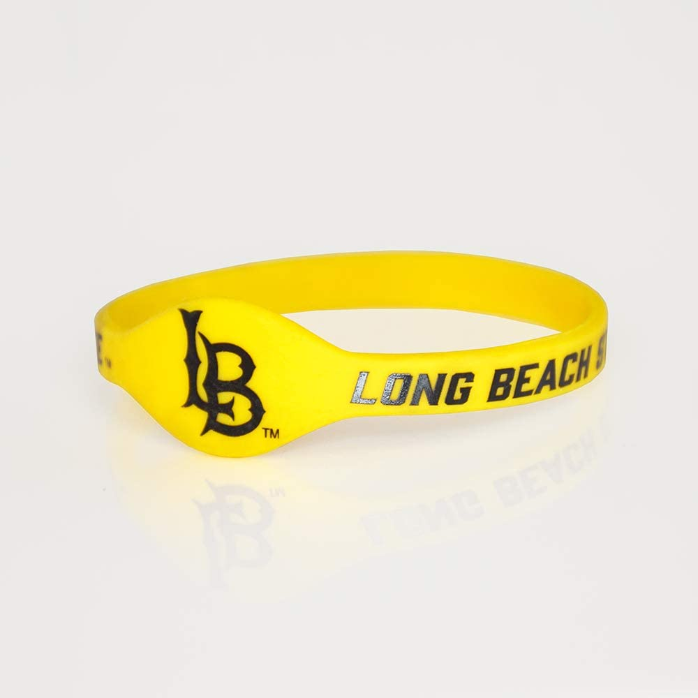 Fan Low price Ranking TOP5 Frenzy Gifts NCAA Cal Silicone Bracelet State Long Beach