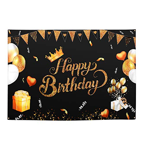 coración de cumpleaños Happy Birthday Banner de cumpleaños para niños, niñas, decoración de guirnaldas para Feliz cumpleaños para 1.2.10.13.16.18.25.30.40.50.60 años Mujer Hombre decoración