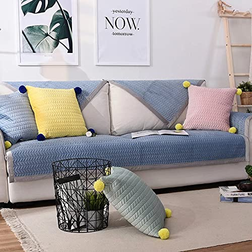 Funda de sofá Impermeable Funda de sofá Antideslizante para sofá de 3 Cojines Protector de Muebles de Tela de Pieza Entera sin Costuras para Mascotas Niños Niños Perro Gato