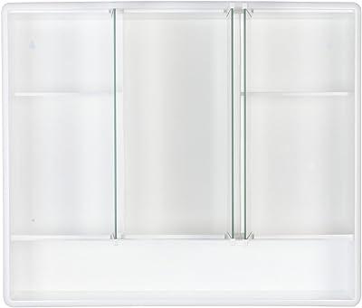 Gedy 3 Door Mirror Bathroom Cabinet White Gloss Amazon
