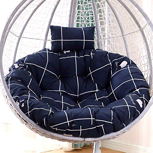 MSTOLL Round Soft Papasan Wicker Seat Padded Pads For Indoor Balcony Chair Not Included Quilted Coussins-140x110cm (55x43inch) E.