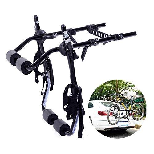 Lamyanran Estante de montaje plegable para bicicletas de coche, soporte trasero para coche, respaldo a bordo, se puede colgar hasta dos, versión simple y ligera, soporte para bicicleta de alta calidad