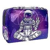 Bolsa de Maquillaje Astronauta Espacial Bolsa Cosmetica Portátil Viaje de Maquillaje Organizador Bolsa de Almacenamiento de Maquillaje 18.5x7.5x13cm