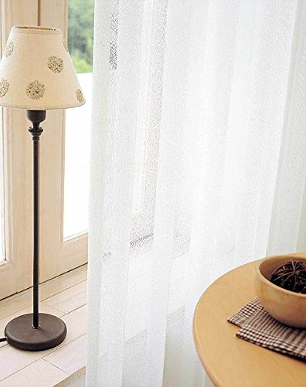 居間リスそこから東リ ベーシックな無地調ミラーレース カーテン1.5倍ヒダ KSA60494 幅:300cm ×丈:270cm (2枚組)オーダーカーテン