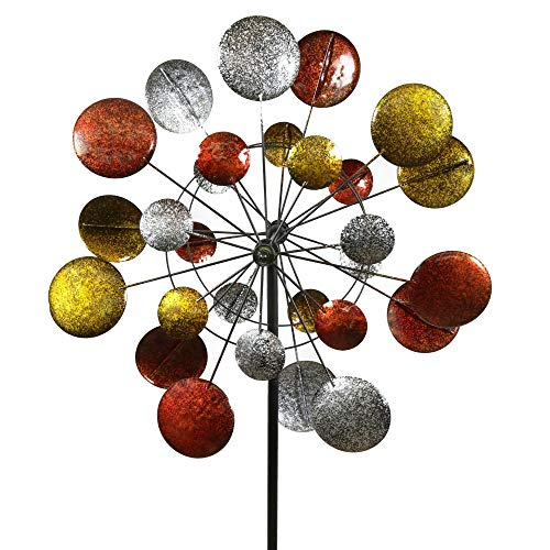 Jumbo Modern Art Kinetic Quadruple Wind Sculpture Spinner