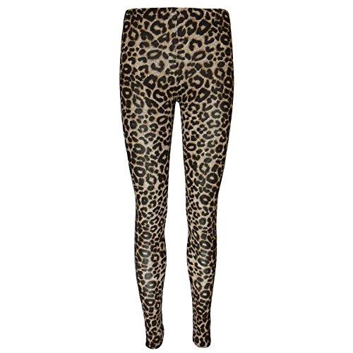 Damen Gemustertes Promi Damen Dehnbar Hose Leggings Jeggings Übergrößen - Leopard - Animal Gepard Motiv, S/M (UK 8/10)