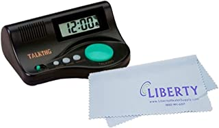 Big Button Curve Talking Alarm Clock for Low Vision with Liberty Cleaning Cloth (English Speaking)