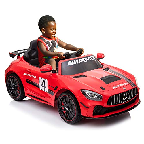 AuAg Kids Mercedes Benz AMG Big Electric Ride On Car Toys with Remote Control 12V Power Battery...