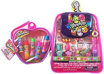 Shopkins Cosmetic Bag Bundle Set 1 Shopkins Backpack Cosmetic Set and 1 Shopkins Lip Balm Set product image