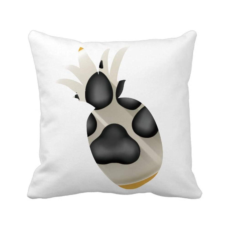 記念品コンパイルレプリカ素敵な犬の爪黒のパターン パイナップル枕カバー正方形を投げる 50cm x 50cm