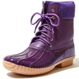 Women's DailyShoes Warm Snow Booties Lace Up Ankle High Cashmere Collar Duck...