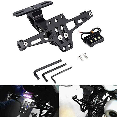 Universal Motorrad Kennzeichenhalter Einstellbar CNC Aluminium Halteplatte Lizenz Halterung Plate Holder Bracket
