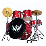 Musical Instruments Percussion Drums Adult Children's Jazz Drums Beginners Getting Started Drum Set Professional Playing Drums Alloy Zinc Aluminum Plating Hardware (Color : Red, Size : 120CM150CM)
