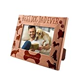 Best Dog Dad Ever, Personalized Picture Frame | 4x6 | Custom Engraved Frame w Name & Year - Dog Father Gifts, Dog Owner Gifts D#9