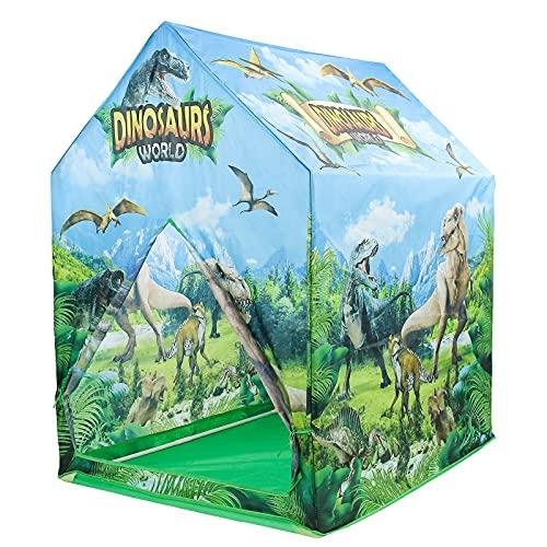 Dinosaurio Tienda Campaña Infantil Dinosaurios Juguetes Casas para Niños Portátil Tienda para Interiores y Exteriores Casita Infantil para Jugar Regalo para Niños 3 4 5 años LxWxH: 72 x 92 x 104 cm