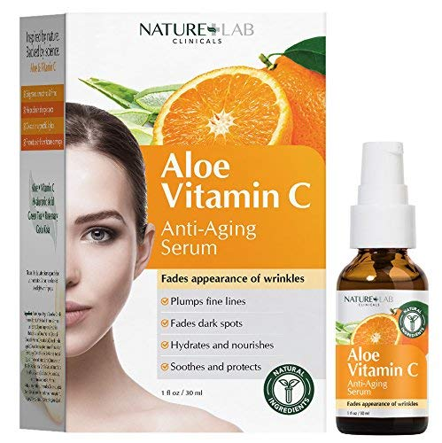 Nature Lab Clinicals Aloe Vitamin C Anti-Aging Serum 1oz / 30ml Helps Fade the appearance of wrinkles. Plumps fine lines. Fades dark spots.