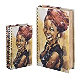 Vidal Regalos Caja con Forma de Libro Set 2 Unidades Chica Africana 26x17 cm