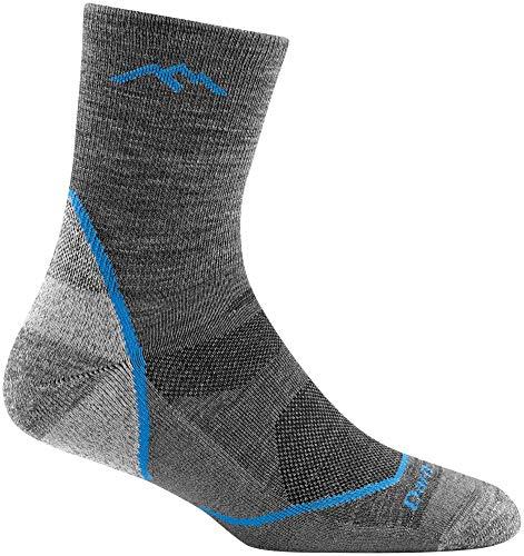 Darn Tough Light Hiker Jr. Micro Crew Light Cushion Sock - Boy's Gray Large