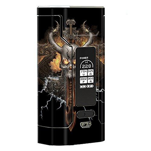 Skin Decal Vinyl Wrap for Wismec Predator 228 Vape Mod stickers skins cover/ Thunder God logo