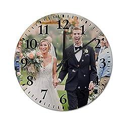 JKMEOO Personalized Photo Clock,Custom Photo Wall Clock,Personalized Family Clock Print,Customized Birthday Wedding Valentine's Day Christmas Photo Gifts. (30cm/11.8in)