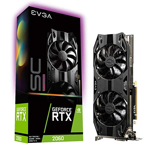 EVGA GeForce RTX 2060 SC Ultra Gaming, 6GB GDDR6, Dual Fan HDB, Placa de Vídeo 06G-P4-2067-KR