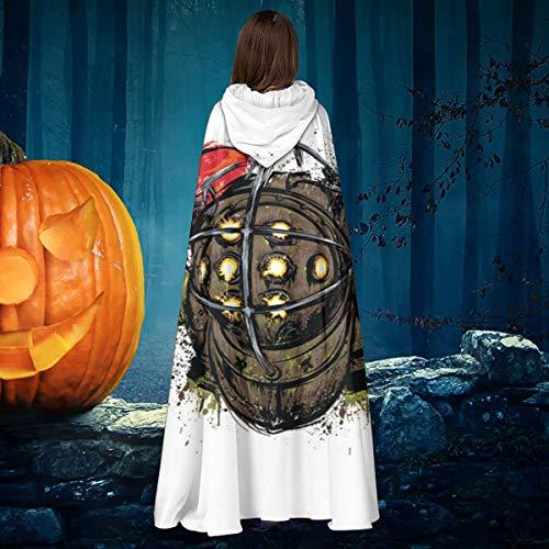 NULLYTG Bioshock Big Daddy Unisex Weihnachten Halloween Hexe Ritter Kapuzenmantel Vampir Umhang Umhang Cosplay Kostüm