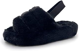 أحذية Asverd نسائية بحزام متقاطع سهلة الارتداء من الأمام مفتوحة من الأمام من فازي هاوس