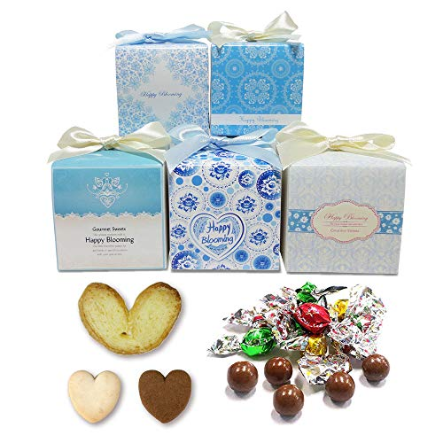 プチギフト お菓子 ばらまき用 お礼 お返し『サムシングブルーグルメCC(チョコ&クッキー&パイ)』職場 会社 販促 個包装 結婚式 大量 業務用 (30個セット)