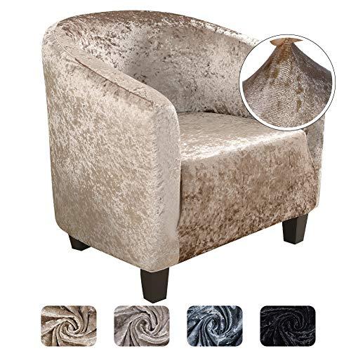 papasgix Sesselschoner Sesselüberwurf Sesselhusse Sesselbezug Samt Elastisch Stretch Husse für Cafe Stuhl Sessel Komfortable und schöne Dekoration
