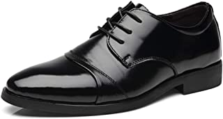 [AJGLJIYER LTD] ビジネスシューズ メンズ シューズ ポインテッドトゥ カジュアルシューズ クロスバンドストラップ 紳士靴 革靴 合皮 レースアップ 滑り止め 軽量 コンフォート 通勤 冠婚葬祭 日常