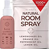 Ayadara Natural Room Spray   Citrus Mint Air Freshener for Bedroom, Bathroom, & Living Rooms   Lemon, Orange, & Witch Hazel Deodorizer Mist   Odor Eliminator Essential Oil Spray   1000+ Sprays