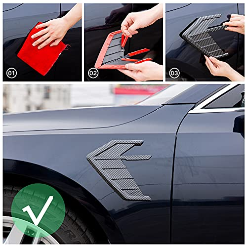 Leafboard Modification Side Label Suitable for Audi RS3 RS4 RS5 RS6 A6 C6 C5 A1 A3 8P A4 B8 B6 A5 A7 A8 Q5 Q7 TT R8 Car Decoration Sticker (Front Fender Carbon Fiber)
