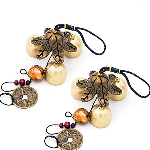 Banfeng 2 Stück Lucky Windspiele 3 Glocken Feng Shui Windglocke für Glück Haus Garten hängende Dekoration Geschenk