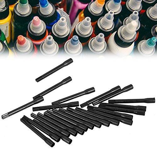 50 Pcs/Sac Tatouage Encre Pigment Mélange Jetable Bâton Mélangeur Blender Accessoire Kit
