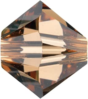 Swarovski Crystal Bicones 5301/5328 6mm Light Smoke Topaz-- 25 Beads