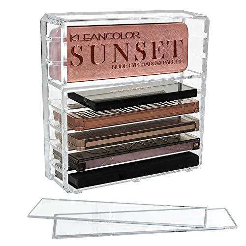 Discoball Acryl Oogschaduw Palet Organisator Cosmetische Make-up Opbergtas met 8 Verstelbare Secties