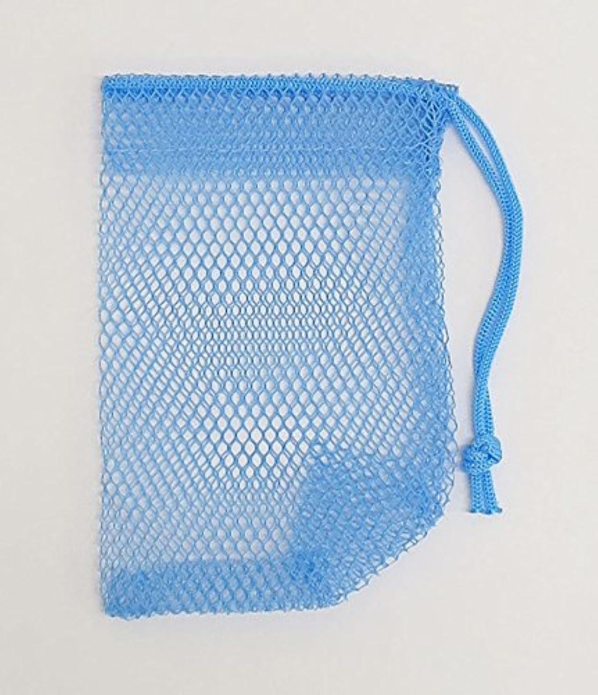 フェザー一握り終了する石けんネット ひもタイプ 20枚組 ブルー