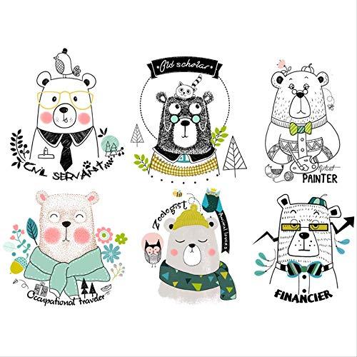 Habitación Infantil De Dibujos Animados Dormitorio Para Bebés Decoraciones Lindas Pegatinas De Pared Pvc Creativo Kindergarten Literatura Personalidad Oso Pegatinas 60 * 100 Cm